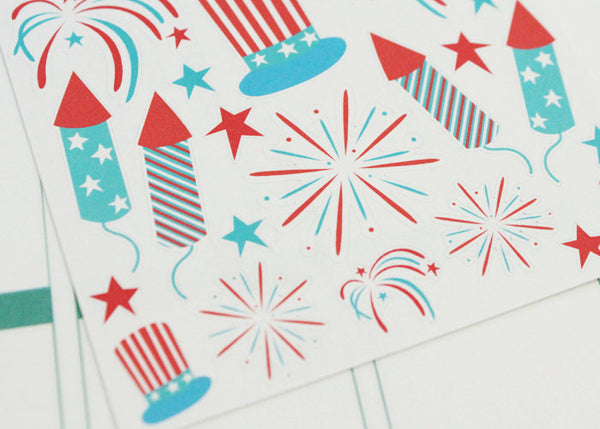 HO01 - 4th of July Stickers