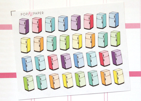FD07 - Rainbow Refrigerator Fridge Stickers
