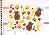 FD03 - Cute Kawaii Fruit  Stickers