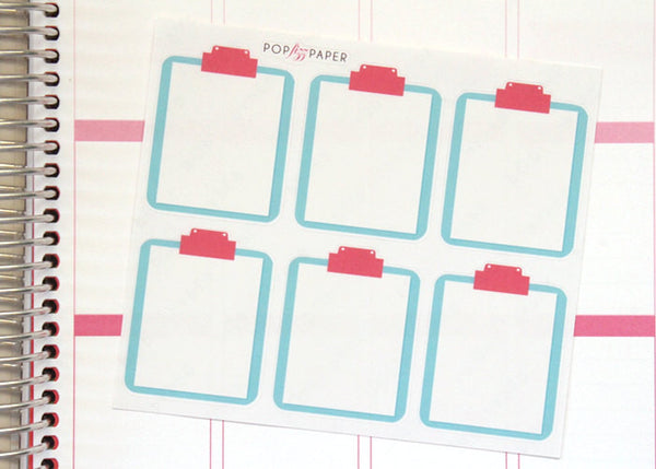 OF04 - Pink and Blue Clipboard Stickers