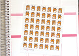 AN04 - Kawaii Hungry Hamster Stickers