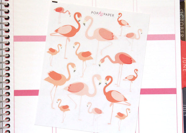 AN05 - Pretty Pink Flamingo Stickers