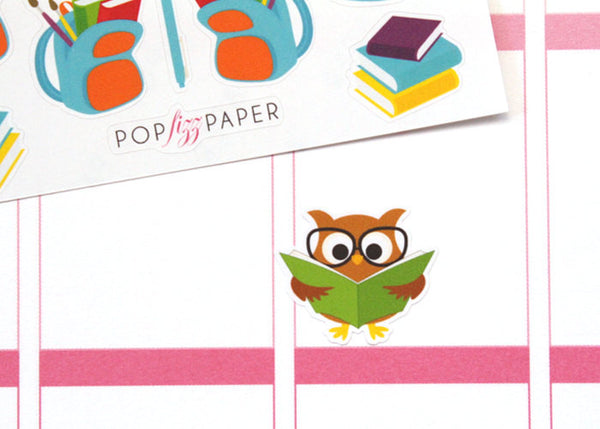 OW03 - Studious Owls Stickers