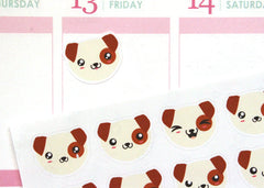 AN03 - Cute Kawaii Puppy Dog Faces Stickers