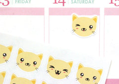AN02 - Cute Kawaii Kitty Faces Stickers