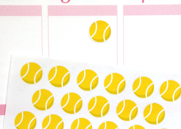 SP06 - Small Tennis Ball Stickers