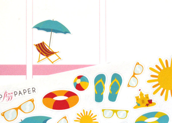 SE01 - Summer Beach Fun Stickers