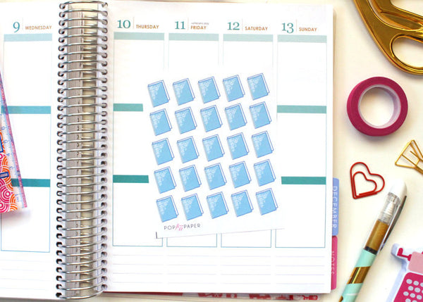 PL02 - Blue Planner Stickers