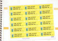AC03 - Girl Scout Meeting Stickers