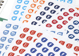 YOUR CHOICE Small Social Media Teardrop Stickers