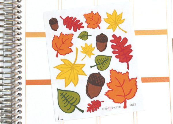SE02- Falling Leaves Stickers