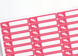 HE07 - Pink SKINNY Step Tracker Stickers