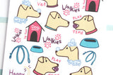 AN08 - Cute Pink Dog Care Stickers