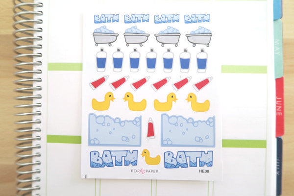 HE08 - Bathtime Bubble Bath Stickers