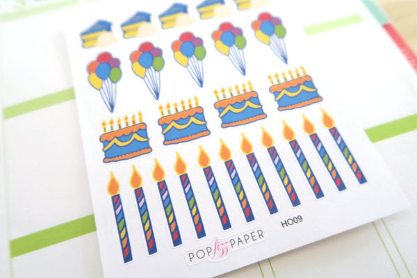 HO09 - Rainbow Birthday Stickers