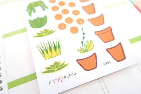 DY05 - Build Your Own Kawaii Succulent Stickers