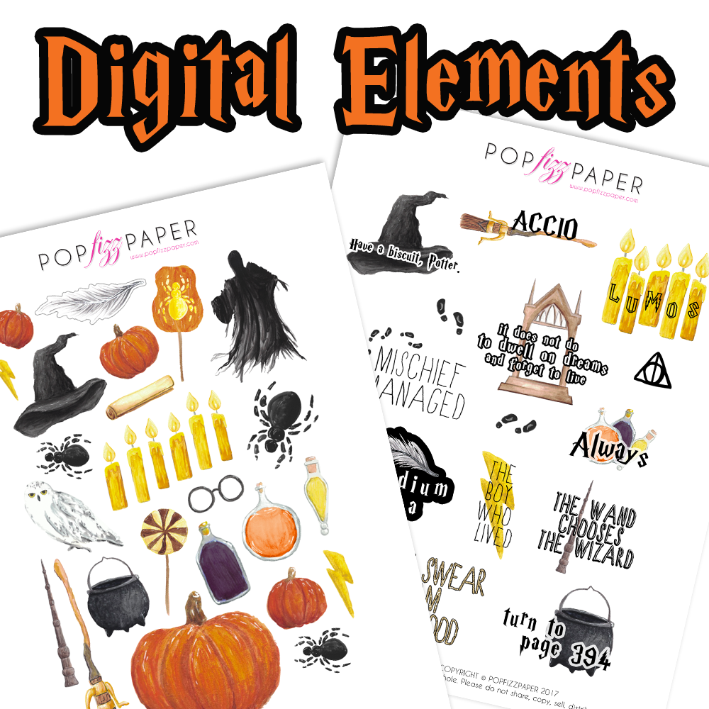 Digital Elements Sheets - Scary Harry Halloween