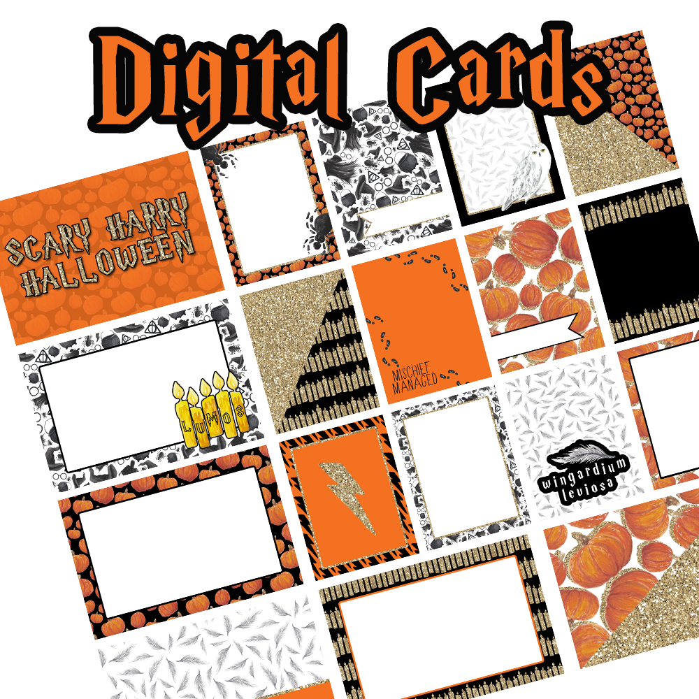 Digital Journal Cards - Scary Harry Halloween