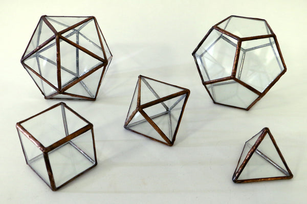 Platonic Solids - Glass