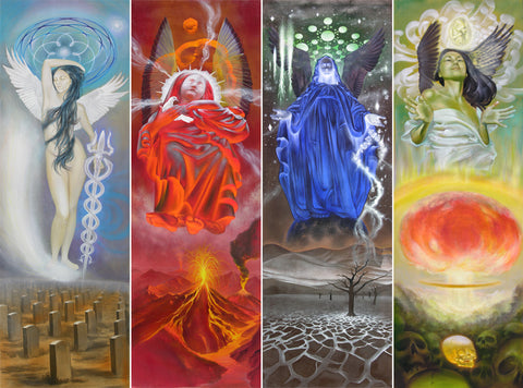 Four Angels of the Apocalypse - Archival Canvas Reproductions