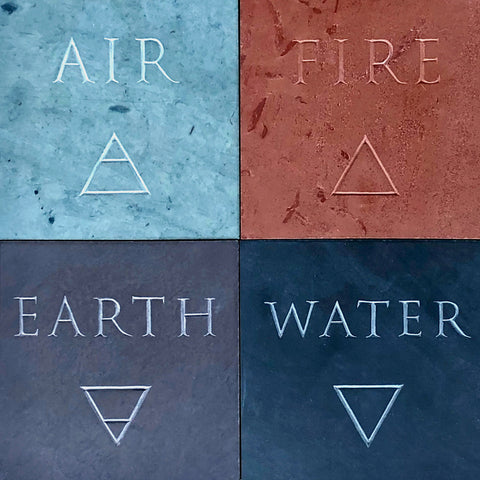 Four Elements - Slate Carvings