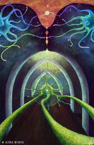 Telepathic Portal to the Gaian Mind - Archival Canvas Reproduction