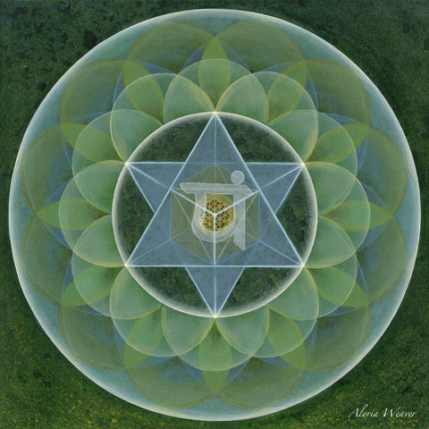 Heart Chakra - Archival Canvas Reproduction