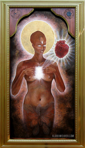 Sacred Heart of the Blessed Mother Gaia - Canvas Print