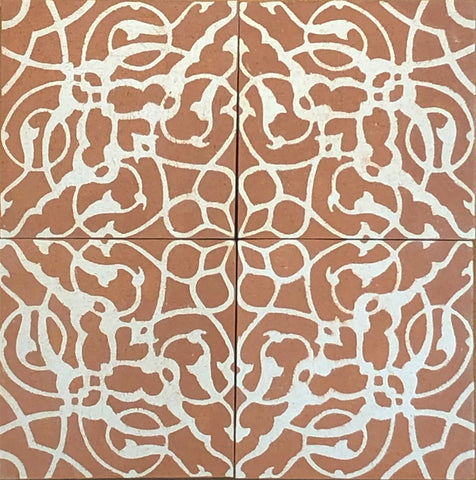 II. Encaustic Ceramic Tiles - Set of 4
