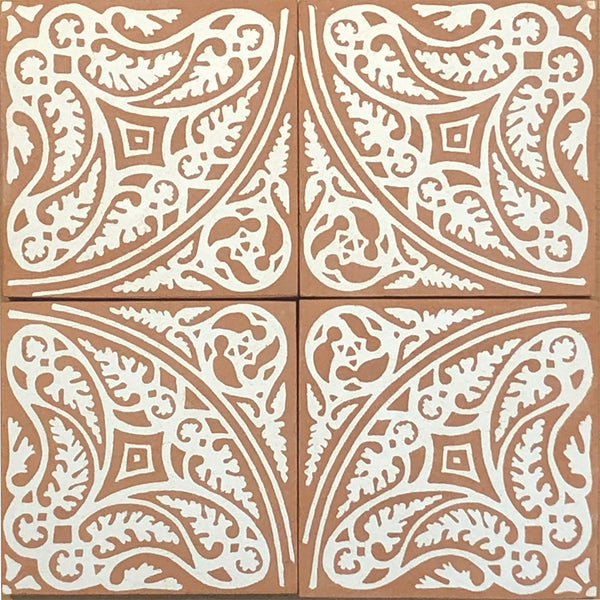 I. Encaustic Ceramic Tiles - Set of 4