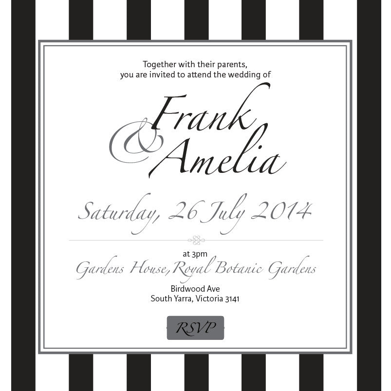 Effortless Chic | Stripes | Wedding Invitation: Evite – MY{WEDDING ...