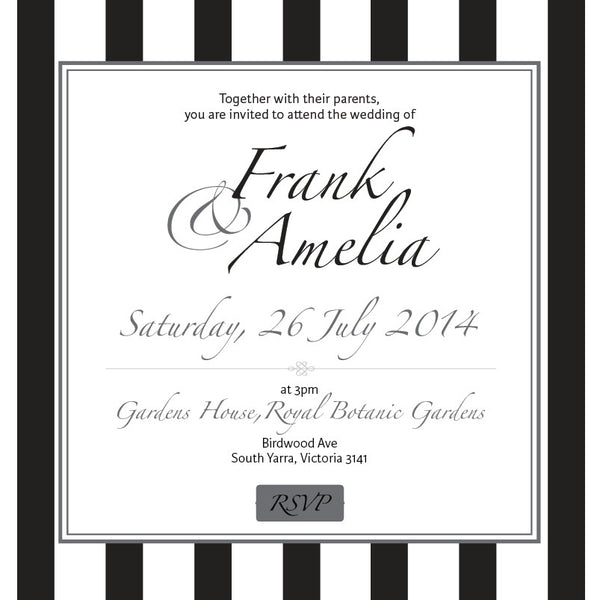 Effortless Chic | Stripes |   Wedding Invitation: Evite