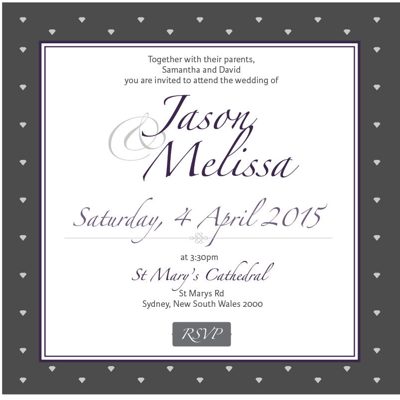 Gracefully Glamorous | Diamonds |   Wedding Invitation: Evite