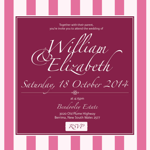 Vintage Blush | Stripes |   Wedding Invitation: Evite