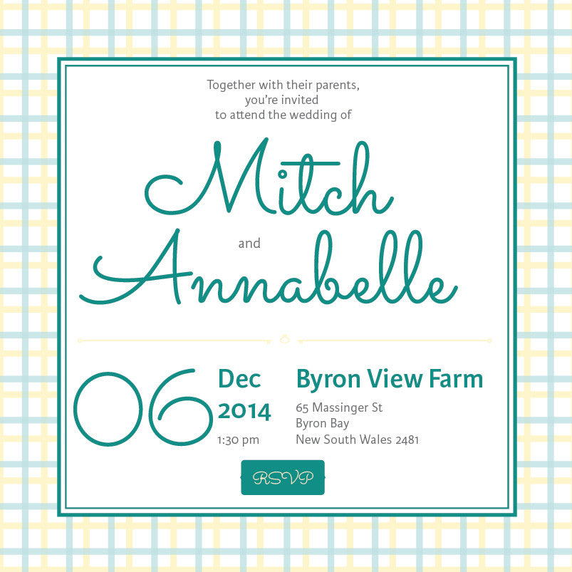 Lusciously Minty | Check | Wedding Invitation: Evite – MY{WEDDING ...
