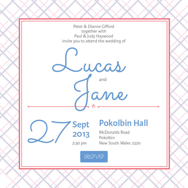 Picnic in Spring | Crosshatch |   Wedding Invitation: Evite