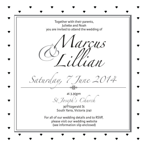 Effortless Chic | Diamonds |   Wedding Invitation: Printed