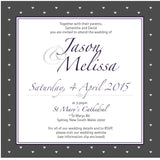 Gracefully Glamorous | Diamonds |   Wedding Invitation: Printed