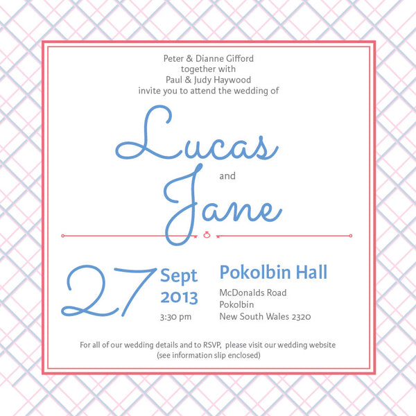 Picnic in Spring | Crosshatch |   Wedding Invitation: Printed