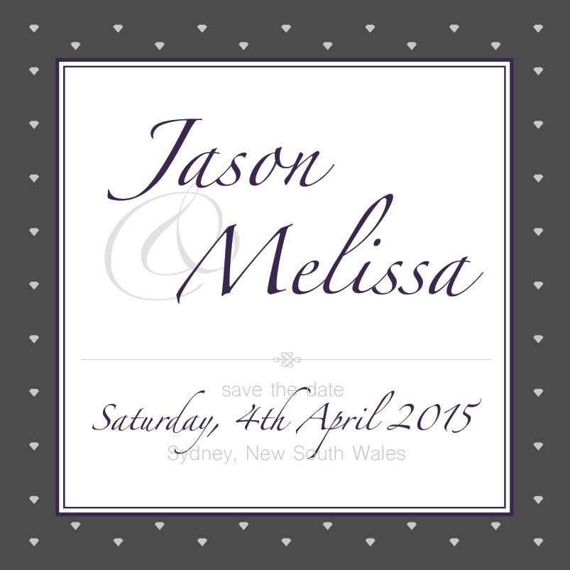 Gracefully Glamorous | Diamonds |   Save the Date: Printed