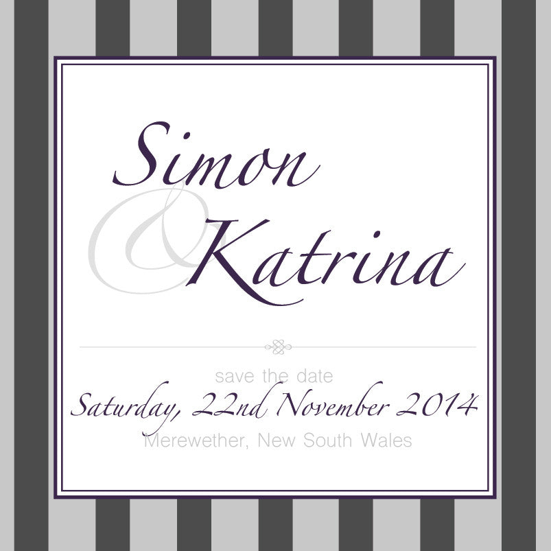 Gracefully Glamorous | Stripes |   Save the Date: Evite