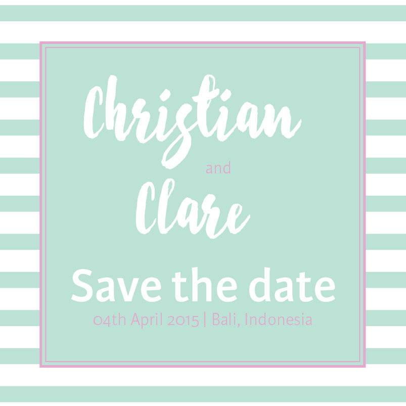 Cool Summer Breeze | Stripes |   Save the Date: Printed