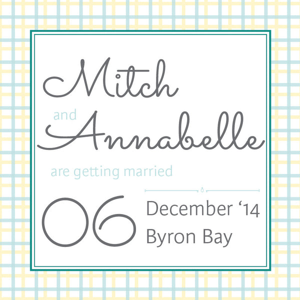 Lusciously Minty | Check |   Save the Date: Printed
