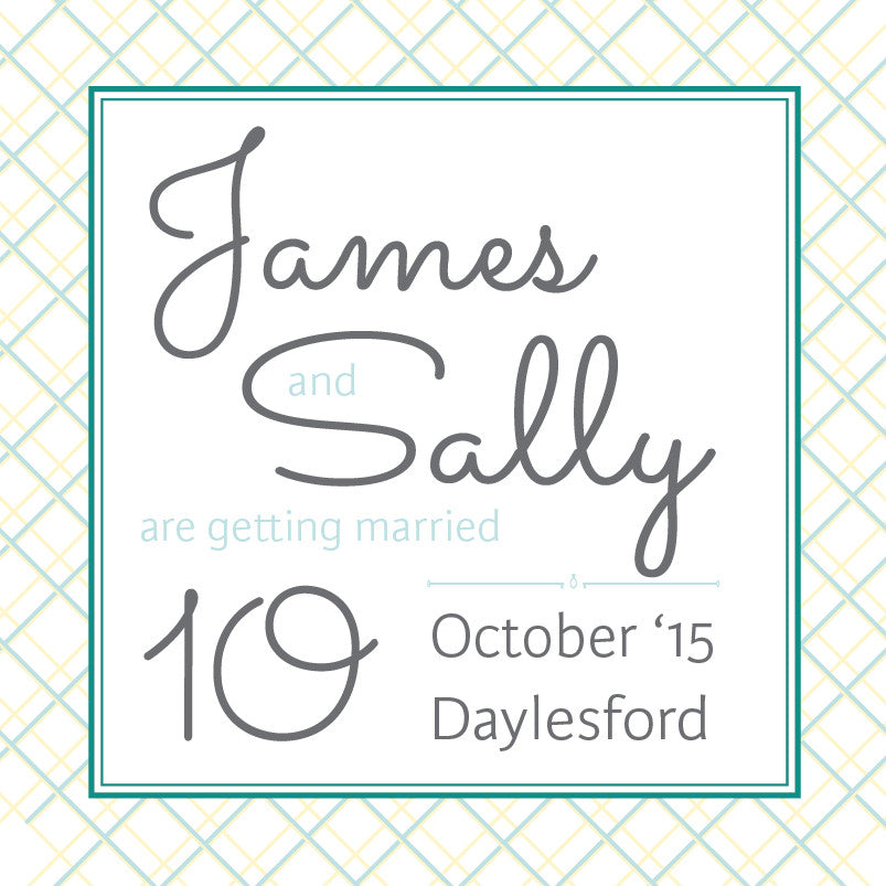 Lusciously Minty | Crosshatch |   Save the Date: Printed