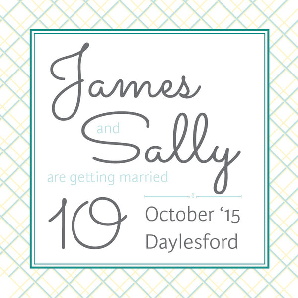 Lusciously Minty | Crosshatch |   Save the Date: Evite