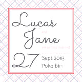 Picnic in Spring | Crosshatch |   Save the Date: Printed