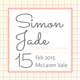 Sunflowers in Bloom | Check |   Save the Date: Printed
