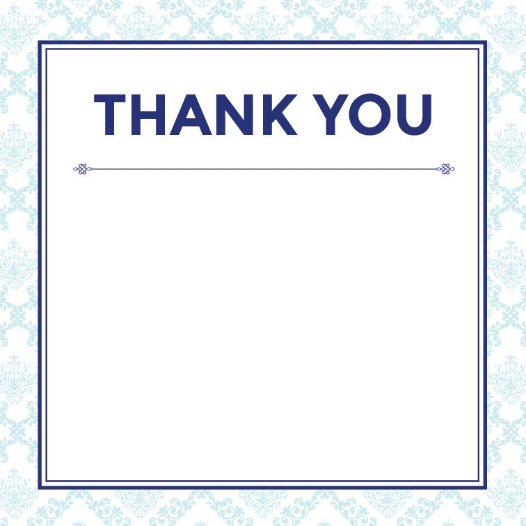 Decadence in Blue | Filigree | Thank you: Printed
