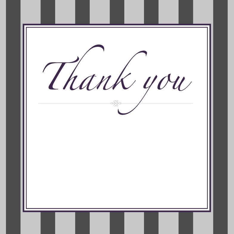 Gracefully Glamorous | Stripes | Thank you: Evite