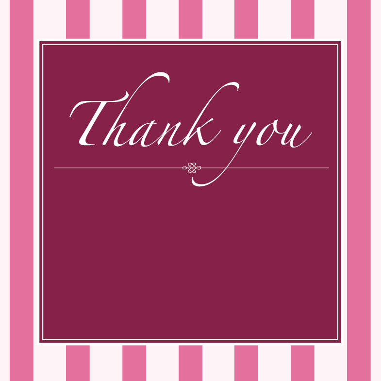 Vintage Blush | Stripes |  Thank you: Printed